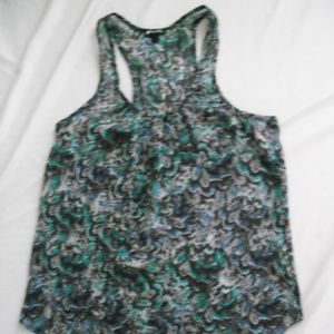 Women's Lily White Tank Top with Pocket Size M